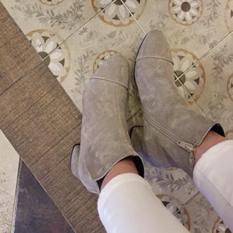 643754 - 修身麂皮鞋