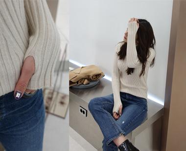 651366 - 手指领极地针织