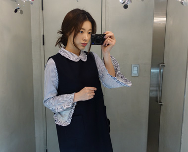 651562 - Syuet褶边衬衫