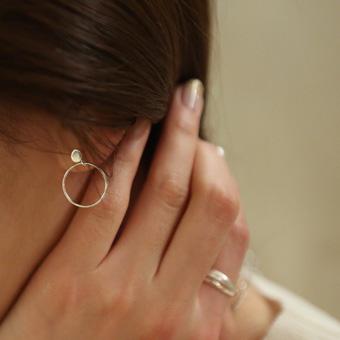 654720 - 真银圈耳环