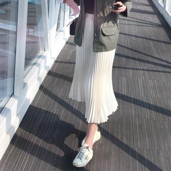 661979 - 雪纺褶皱裙子