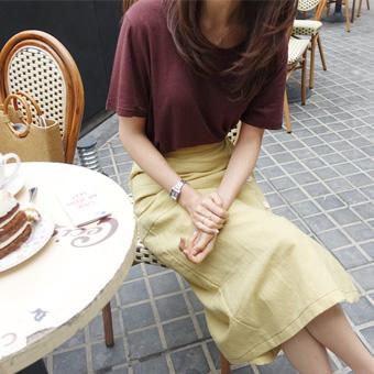668616 - 加上亚麻Ť恤衫