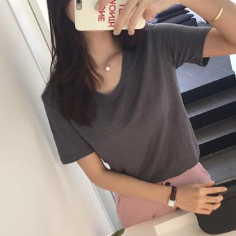 666692 - 牛奶麻Ť恤衫