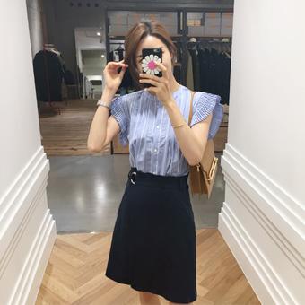 697019 - 亚麻带包裹裙子