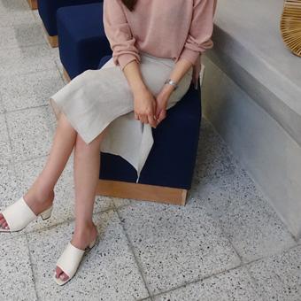 709297 - 长缝亚麻裙子