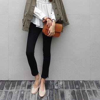 720967 - Teuim纯黑色的裤子