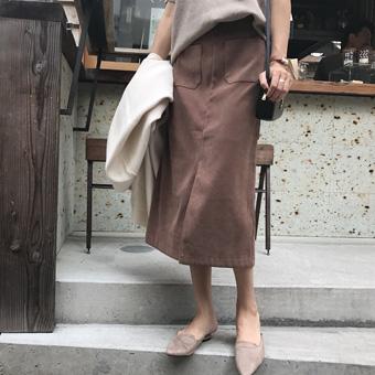 727050 - Teuim麂皮裙子