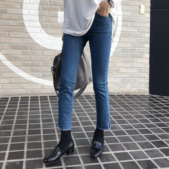 742828 - 冬季刷蓝色牛仔裤裤