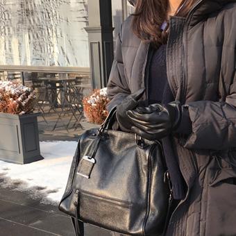 745686 - 黑色水貂皮手套