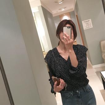 750163 - 杯点皱褶衬衫