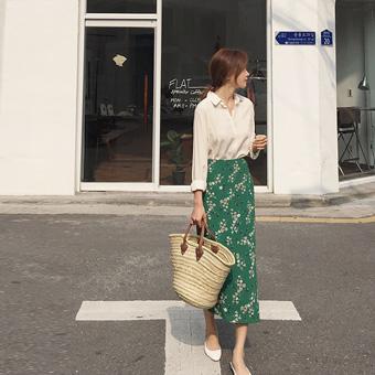 753249 - 绿色tikkot裙子