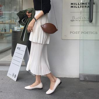 753294 - 纯皱纹裙子