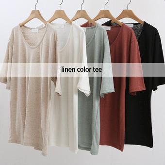 754545 - Yoni亚麻T恤衫