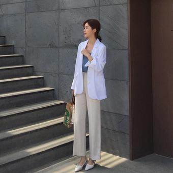755097 - 栗色亚麻裤裤